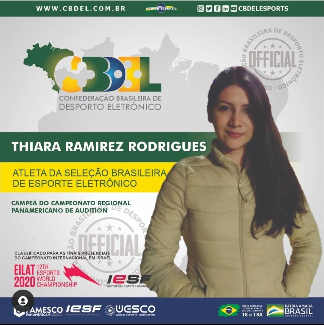 Thiara representará a Brasil